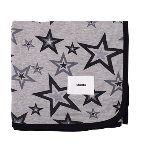 Chi Khi Swaddle Wrap Grey Marle Star