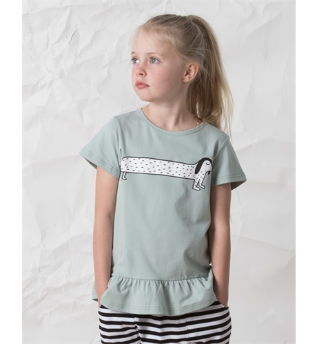Littlehorn Dachshund Tee - Sea Green