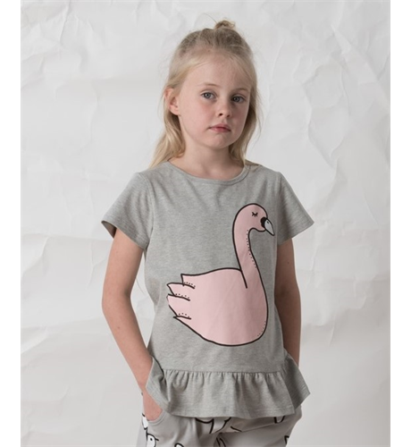 Littlehorn Swan Tee - Grey