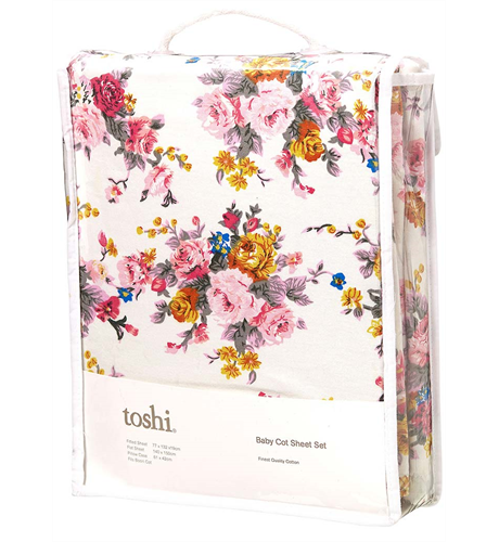 Toshi Cot Sheet Set - Pearl