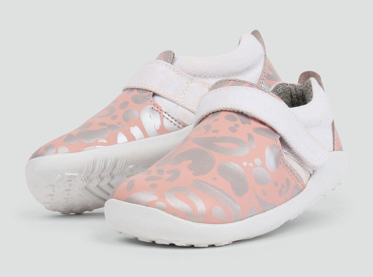 d2ccab5999b9 Bobux IWalk Aktiv Abstract Shoe Pink + Silver - FOOTWEAR-Girl : Kid  Republic - S18/19 BOBUX