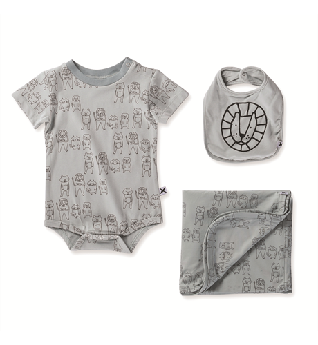 Minti Baby Animal Mates Gift Pack - Muted Green