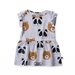 Minti Baby Painted Bears Dress - White Marle