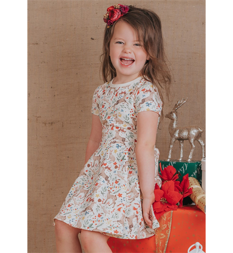 Rock Your Kid Xmas Waisted Dress