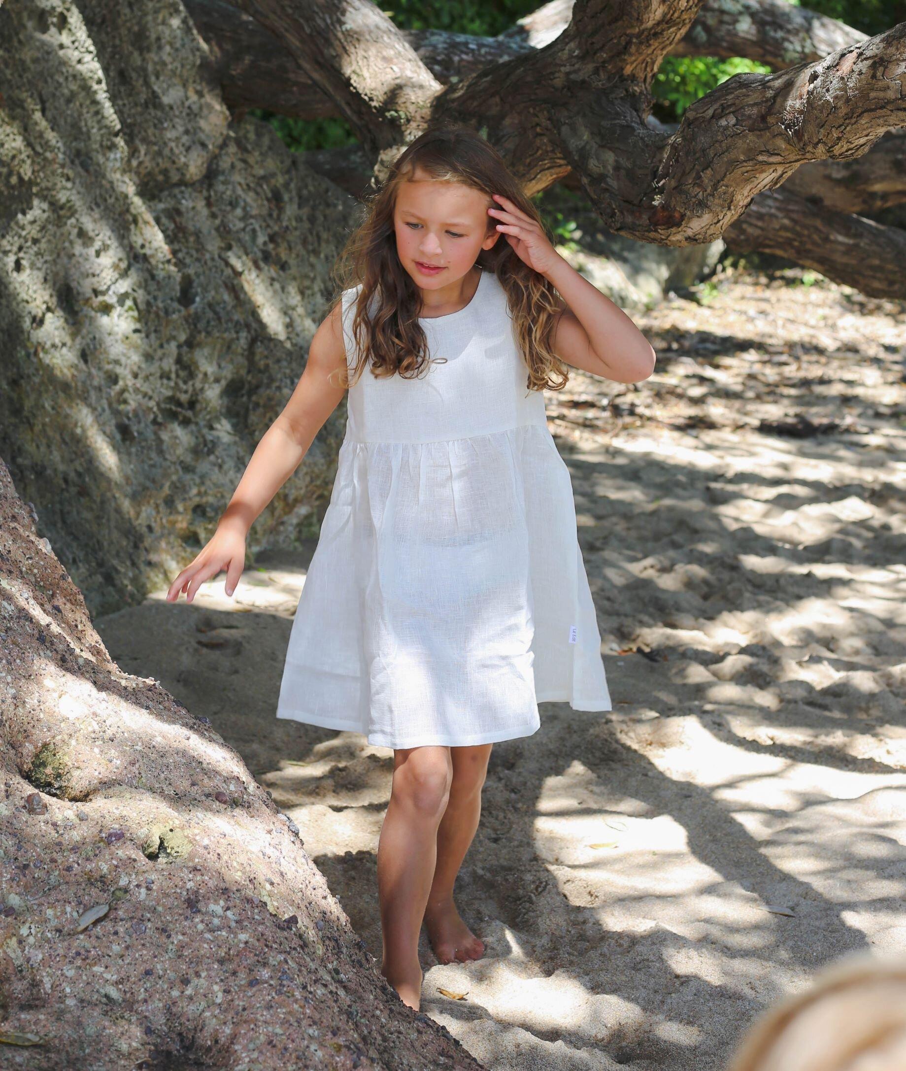 43bcfc865cfe Le Edit Summer Dress - Blanc - SHOP BY BRAND-Le Edit   Kid Republic ...