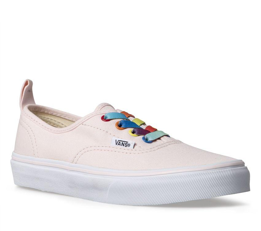 fbe9c9e551bc Vans Kids Authentic Elastic Lace - Pink - FOOTWEAR-Girl   Kid ...