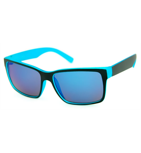 Unity Kids Matt Black/Blue Sunglasses