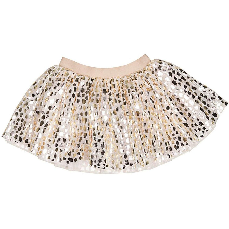 Infant//Toddler HUXBABY Baby Girls Leopard Tulle Skirt