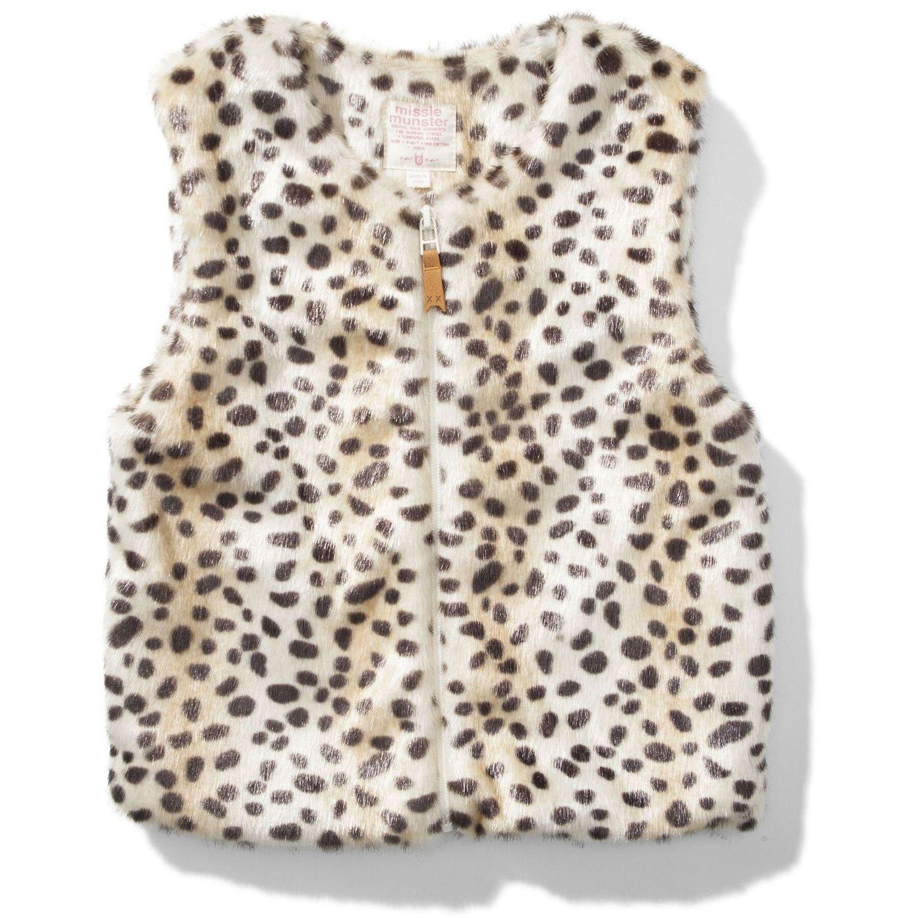 f9b8c189f Missie Munster Surfari Faux Fur Vest - Cheetah - CLOTHING-GIRL-Girls ...