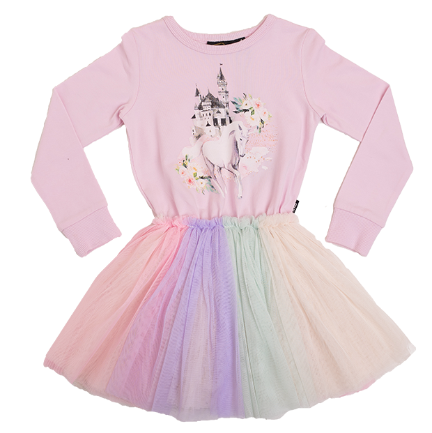 588091fad Rock Your Kid Unicorns & Castles Circus Dress - CLOTHING-GIRL-Girls SKIRTS  & DRESSES : Kid Republic - W19 Rock Your Kid D1