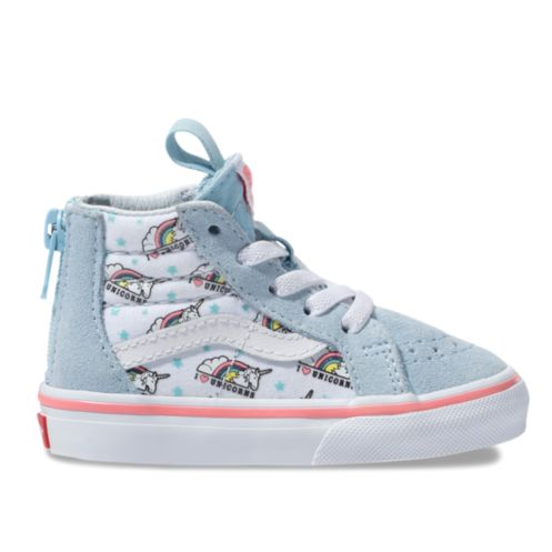 c4adf18e35 Vans Toddler SK8 Hi-Zip Unicorn - Cool Blue White - FOOTWEAR-Infant ...