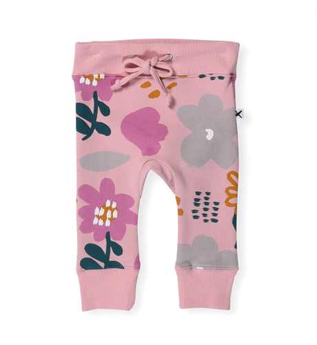Minti Baby Meadow Furry Trackies - Muted Pink