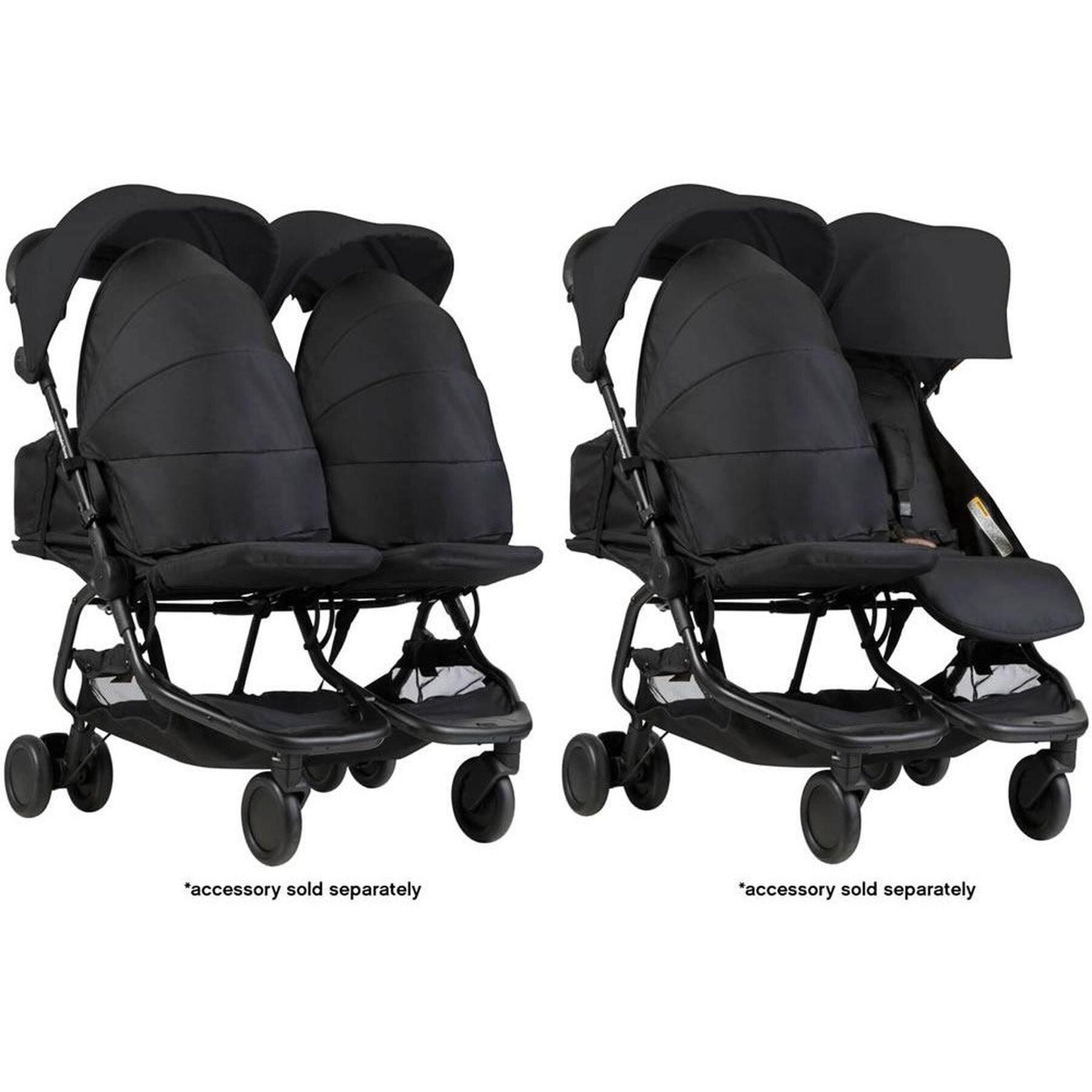 Mountain Buggy Nano Duo Stroller Black