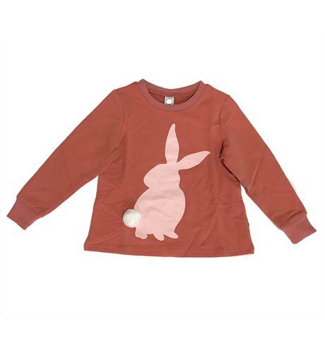 Littlehorn Bunny Stamp Sweat - Currant