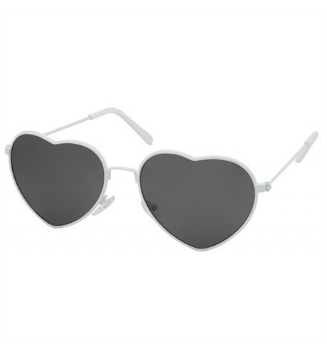 Unity Kids White Heart Sunglasses