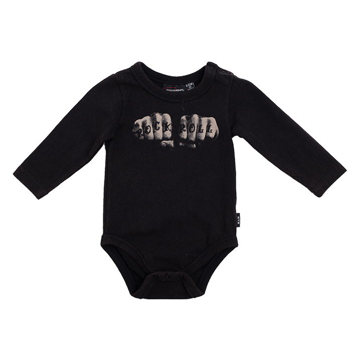 c51dec6c4b3 Rock Your Baby Rock N Roll Knuckles Bodysuit - CLOTHING-BABY-Baby All In  Ones : Kid Republic - W19 Rock Your Kid D3