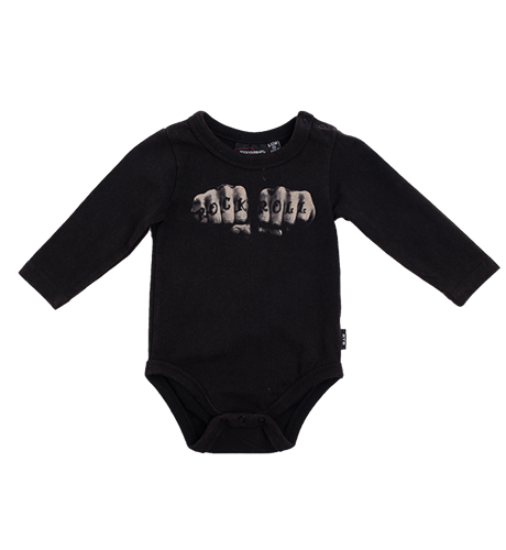 Rock Your Baby Rock N Roll Knuckles Bodysuit