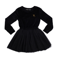 0621c1f2500 Rock Your Kid Velvet Circus Dress - Black-rock-your-kid-Kid