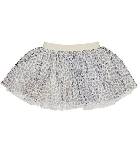 Huxbaby Leopard Tulle Skirt - Oyster