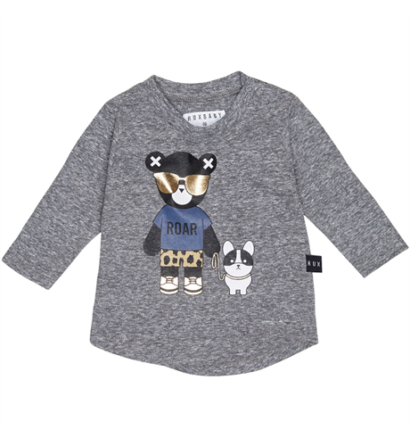 Huxbaby Hux Bulldog Top - Charcoal