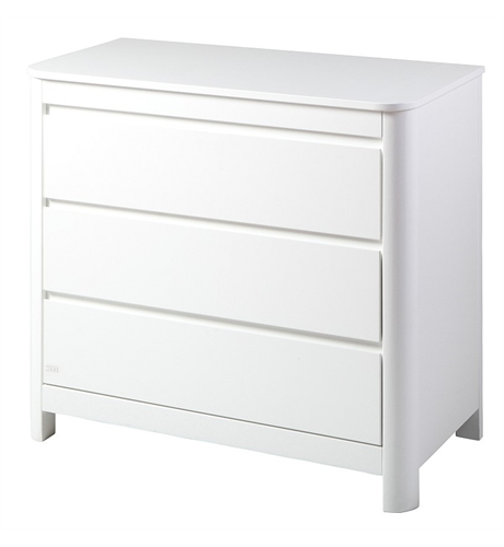 Troll Sun Dresser 3 Drawer - White