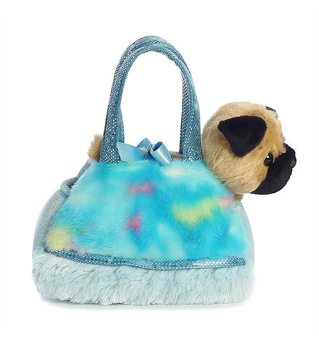 Pet Carrier - Pug Tye Dye Blue