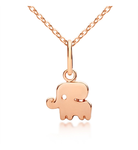 Good Luck Elephant Pendant & Necklace - Rose Gold