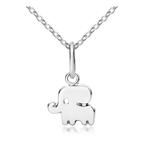 Good Luck Elephant Pendant & Necklace - Silver