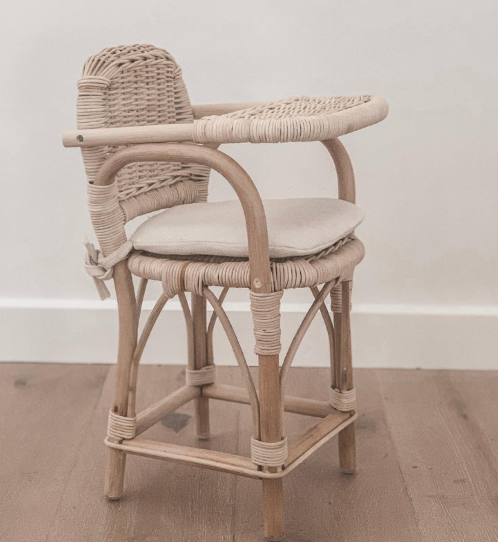 Tiny Harlow Dolls Rattan High Chair