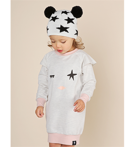 KaPow Twinkle Eye French Terry Flutter Sweatdress