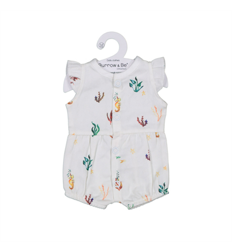 Burrow & Be Ocean Flora Flutter Romper for 38cm Doll