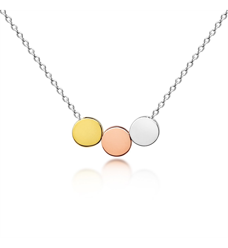 Three Floating Circles Adults Necklace