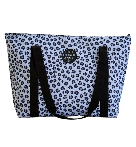 Little Renegade Snow Leopard Large Tote Bag