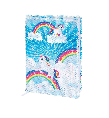 Unicorn Transforming Sequin Notebook