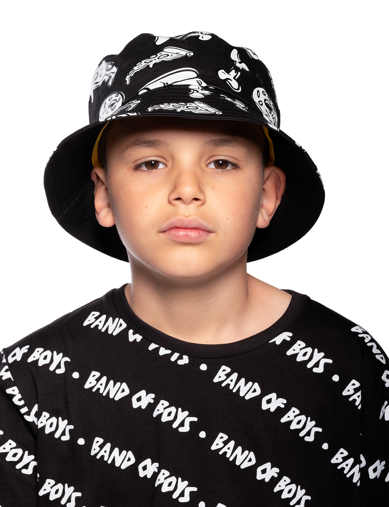 Band Of Boys Food Fight Bucket Hat Black Clothing Hats Summer Hats Kid Republic S20 21 Band Of Boys D1