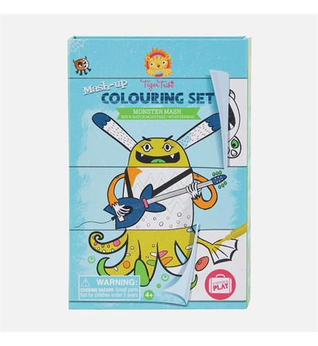 Tiger Tribe Mash Up Colouring Set - Monster Mash