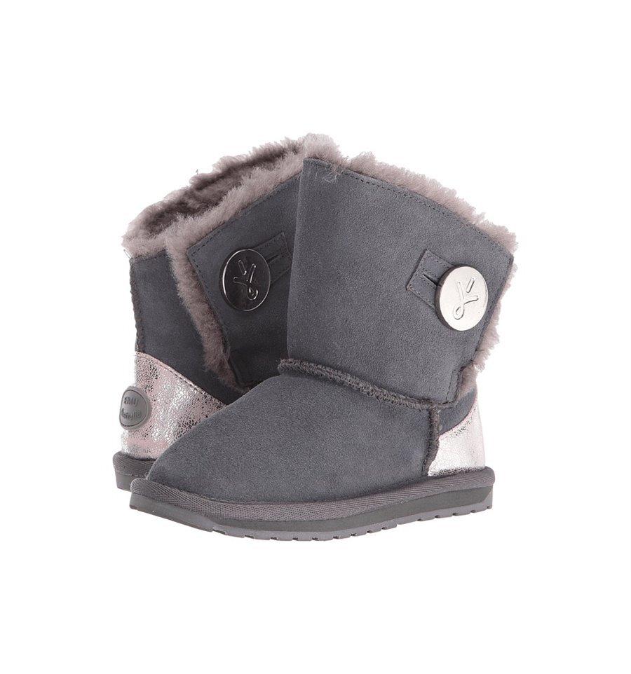 641adf4f8dd Emu Denman Kids Ugg Boot - Charcoal - FOOTWEAR-Girl : Kid Republic ...