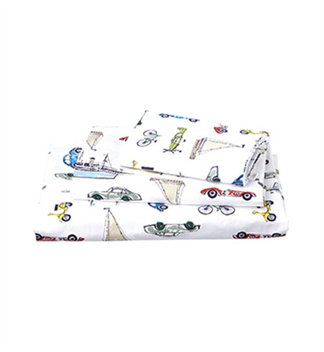 Toshi Cotton Cot Sheet Set - Odyssey