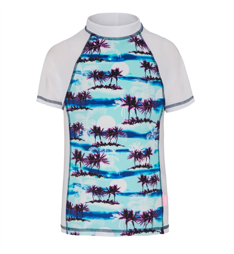 Platypus Sunset Palm Fitted Sunshirt
